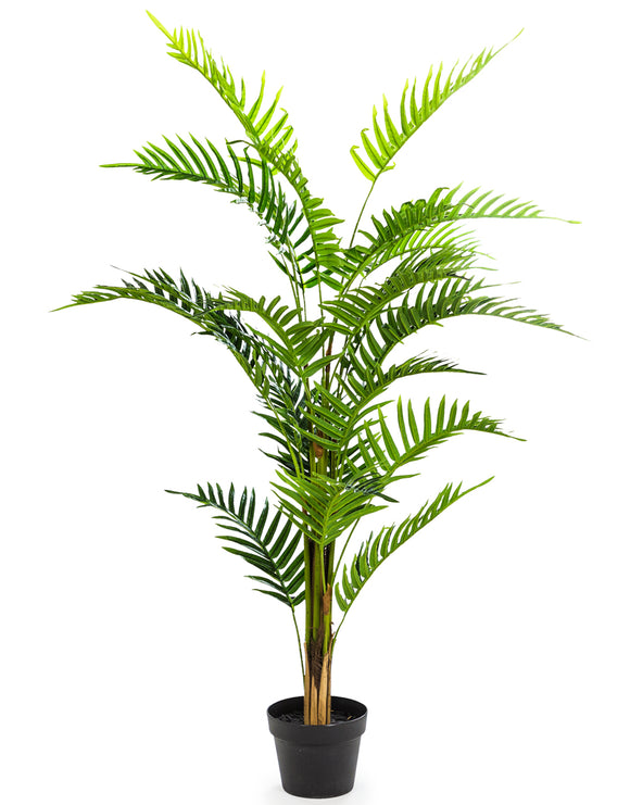 Large Artificial Plant Fern in Black Pot Faux Botanical 120 cm Tall