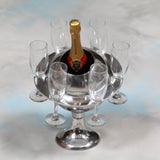 Polished Aluminium Saturn Ice Bucket / Champagne Cooler 31 x 27 x 27cm - Expected mid November