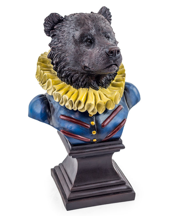 Large Gentry Bear Head Bust on Square Base 52 x 34 x 28 cm