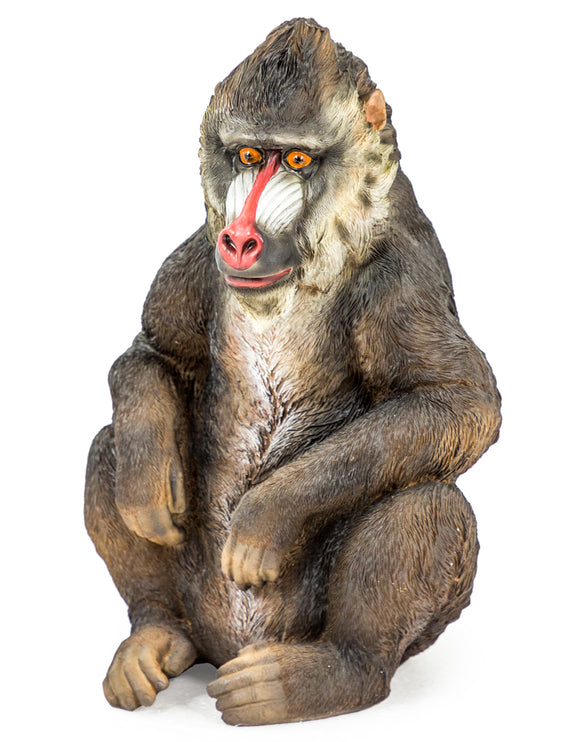 Sitting Baboon Figure Ornament Statue Decorative 32 cm High