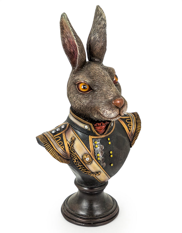 Gentry Rabbit Head Bust on Round Base 42 x 22 x 16 cm