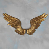 Large Pair of Decorative Antique Gold Angel Wings Wall Hangings - 58cm High New