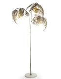 Large Antiqued Silver Metal Palm Leaf Floor Lamp 186 cm High x 96 cm x 96 cm