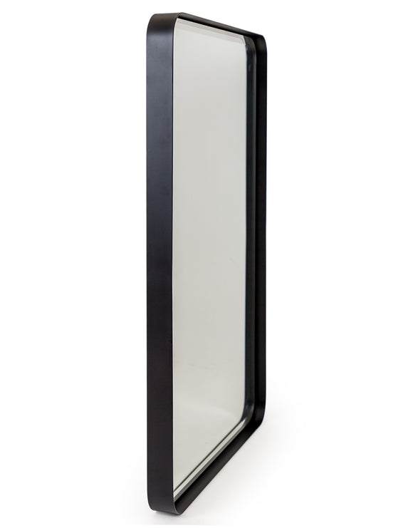 Matt Black Steel Frame Rectangular Wall Mirror