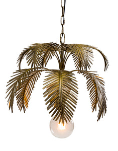 Antiqued Gold Fern Leaf Chandelier Pendant Light