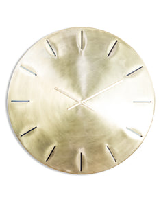 Extra Large Contemporary Brushed Brass Wall Clock 86 cm Diameter
