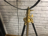 Large Black and Brass Tripod Floor Lamp 195 cm High