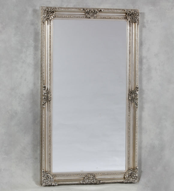 Ornate Extra Large Antiqued Silver Classic Mirror 240 x 150 x 10 cm
