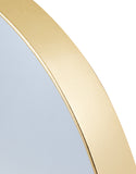 Round Brushed Gold Wall Mirror 40.5 cm Diameter x 4 cm Deep