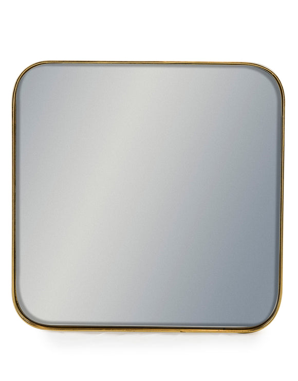 Square Brushed Gold Wall Mirror 40.5 cm x 40.5 cm x 4 cm Deep