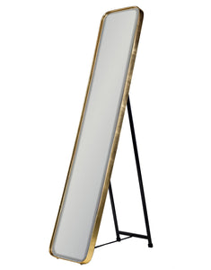 Brushed Gold Frame Cheval Dressing Mirror 150.5 x 30.5 cm