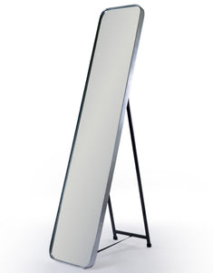 Brushed Silver Frame Cheval Dressing Mirror 150.5 x 30.5 cm NEW