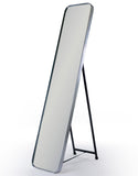 Brushed Silver Frame Cheval Dressing Mirror 150.5 x 30.5 cm - Due March