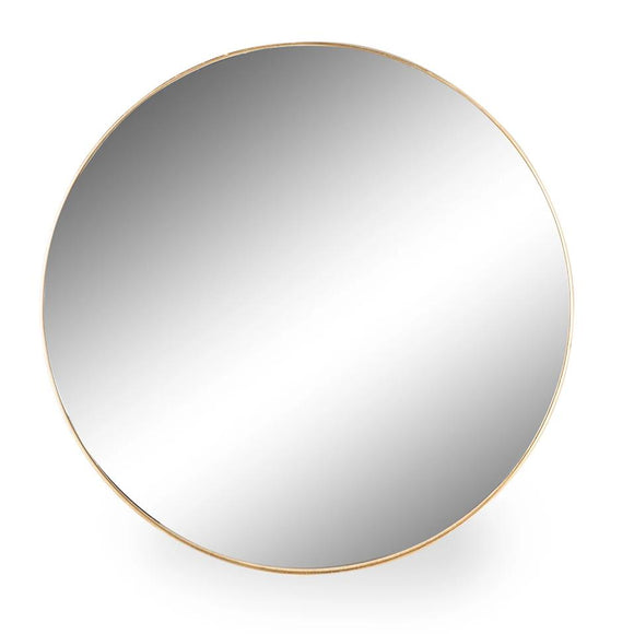 XXL Large Round Brushed Gold Wall Mirror 120.7 cm Diameter x 4 cm Deep - Due Mid March