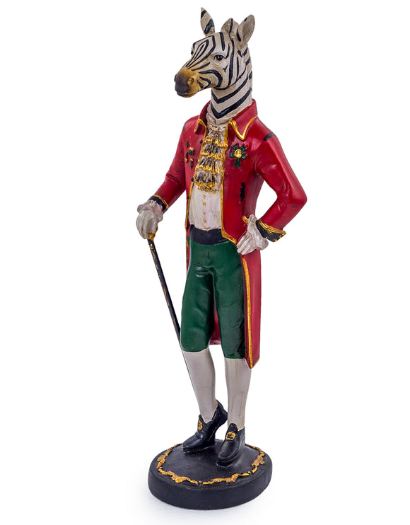 Decorative Standing Gentry Zebra Figure Ornament 49 cm High