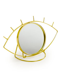 Gold Metal Eye Lash Vanity Table Mirror
