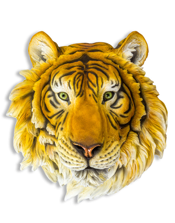 Large Tiger Head Wall Hanging 48 x 43 x 30 cm New