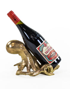 Decorative Tabletop Gold Octopus Wine Bottle Holder 14 cm x 23 cm 17 cm