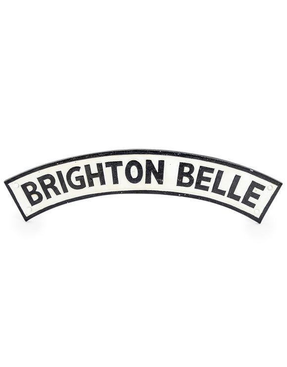 Cast Iron Reproduction Antiqued Railway Nameplate Brighton Belle 65 cm Wide