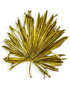 Extra Large Antique Gold Palm Leaf Wall Decor