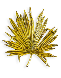 Large Antique Gold Palm Leaf Wall Decor