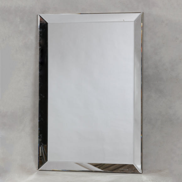 Beautiful Large Bevelled Venetian Mitre Wall Mirror 190 x 130 cm New