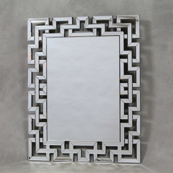 Large Venetian Grecian Key Frame Wall Mirror 122 x 98 x 2cm - Due April