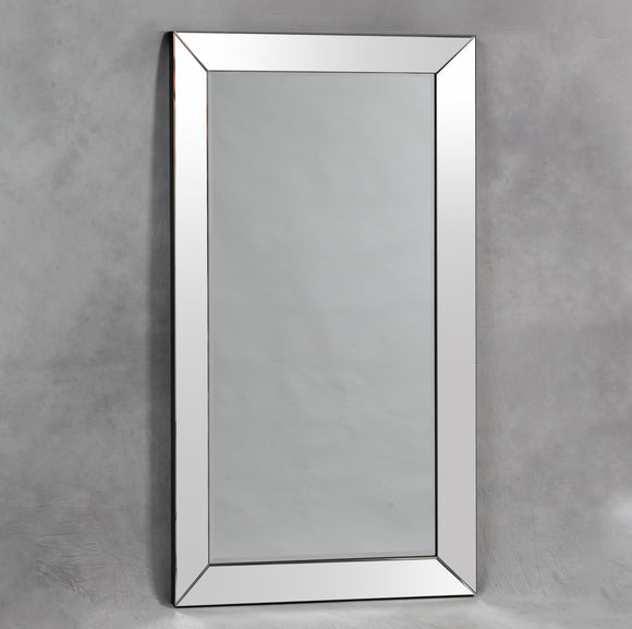 Beautiful Large Bevelled Venetian Mitre Wall Mirror 180 x 100 cm New - Due April