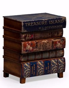 Antiqued Stacked Children's Books Cabinet Chest of Drawers 55 x 46 x 32 cm