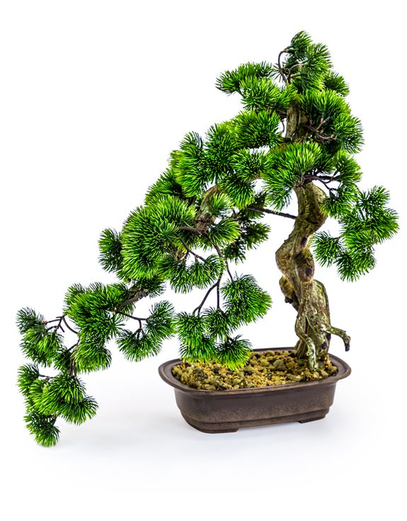 Large Artificial Plant Bonsai Tree in Iron Pot Faux Botanical 55 cm Tall