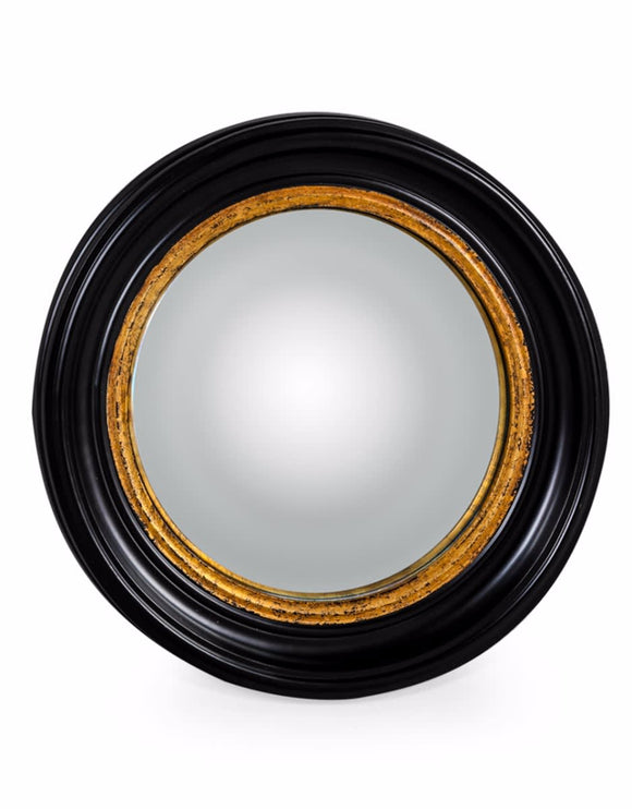 Black and Gold Frame Convex / Fisheye Mirror 52 cm Diameter