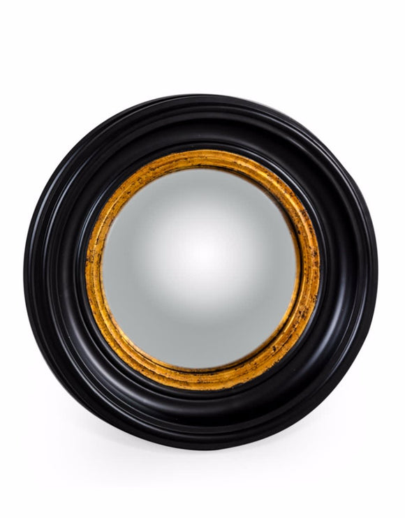 Black & Gold Frame Convex / Fisheye Mirror 40 cm Diameter