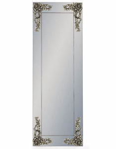Beautiful Antique Silver Corner Detail Wall Mirror 165 x 57 cm - Due March