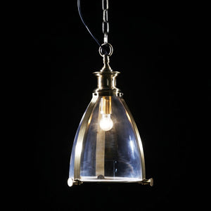 Brass and Glass Lantern Ceiling Pendant Light 50 x 30 x 30 cm - Due back in stock mid October