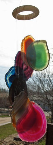 AGATE WIND CHIMES - RAINBOW (MIXED) and SOLID COLOR