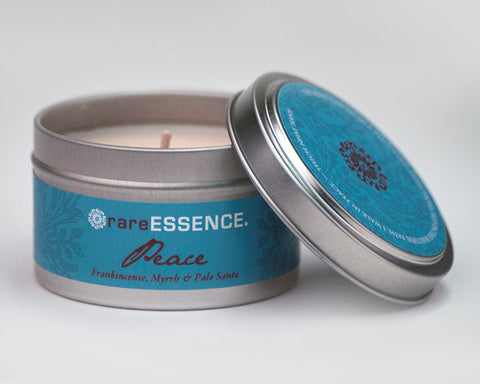 Peace Travel Tin Candle