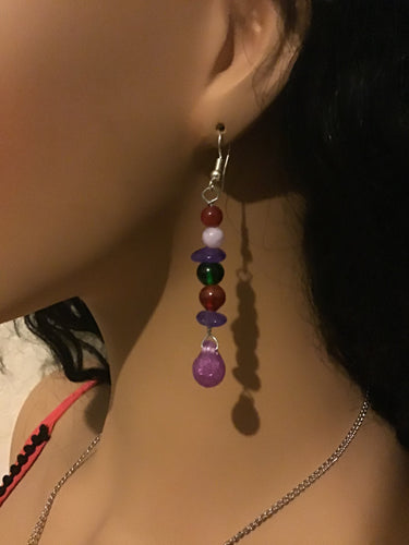 Carmen's Customized Multicolor Hoop and Drop Earring Set
