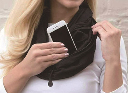 Scarf With Pocket Convertible Journey Infinity Scarf All-match Fashion Women and Men