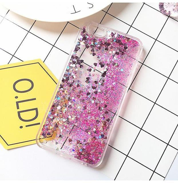 Liquid Glitter Sand Mobile Phone Cases for iPhone 5, 5s, SE, 6, 6s, 7, 7 Plus