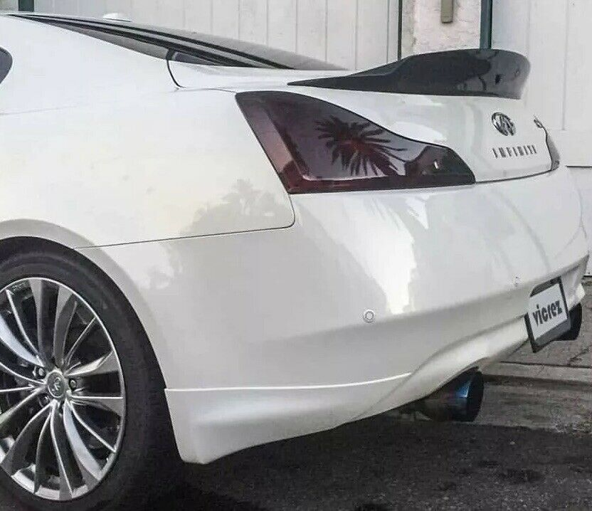 FOR 03-07 G35 COUPE TAIL LIGHT PRECUT SMOKE TINT OVERLAYS