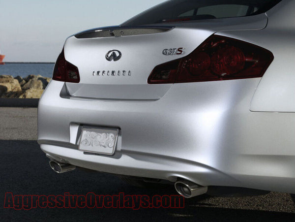03-07 SMOKED TAIL LIGHT with CUTOUT TINT COVER OVERLAYS FOR G35 COUPE