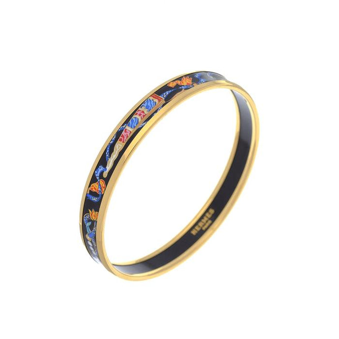Hermes Enamel Bangle MM Narrow