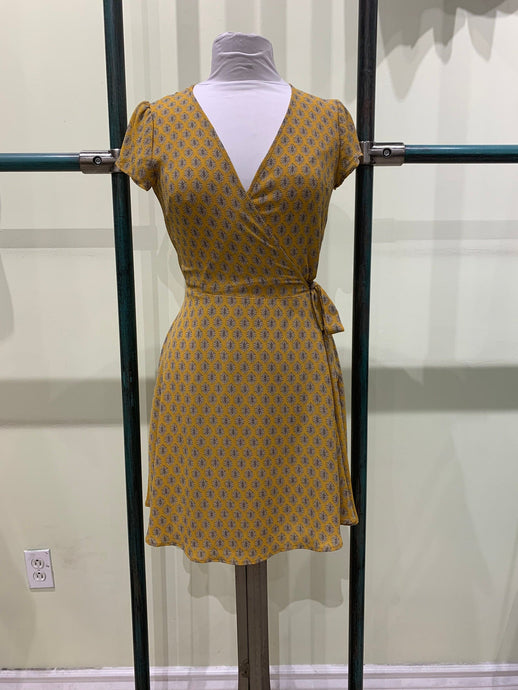 Ixia Yellow Geometric Print Dress
