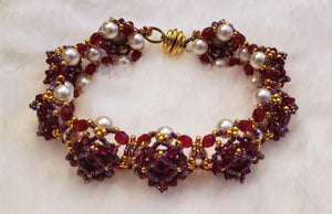 Maroon Beaded Bracelet - King George Shop