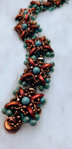Copper and Turquoise Bracelet - King George Shop