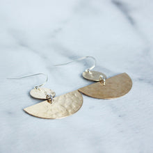 Disc and Half Moon Earrings - King George Shop