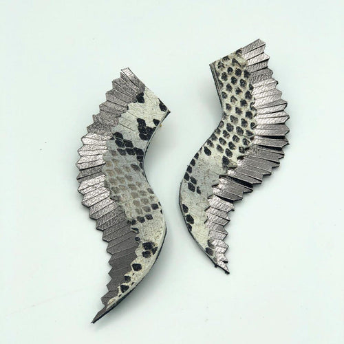 Leather Wing Earrings - King George Shop
