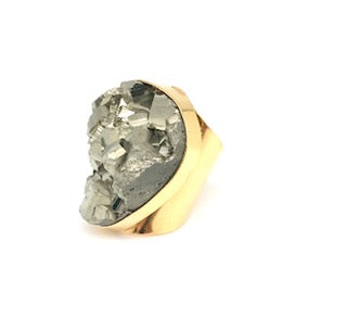 Pyrite Cuff Ring - King George Shop