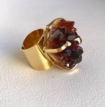 Raw Citrine Adjustable Cluster Ring - King George Shop