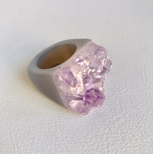 Amethyst Gemstone Cuff Ring - King George Shop